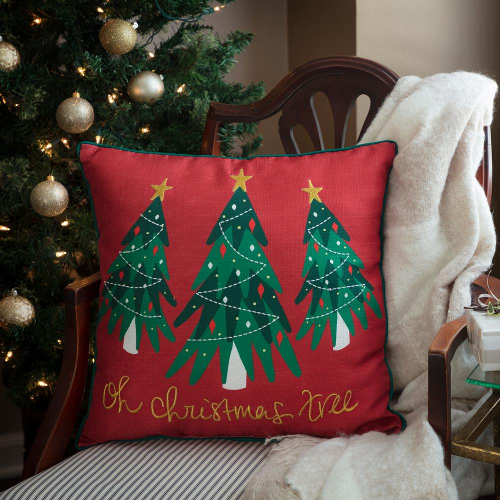 Christmas pillow with tree
