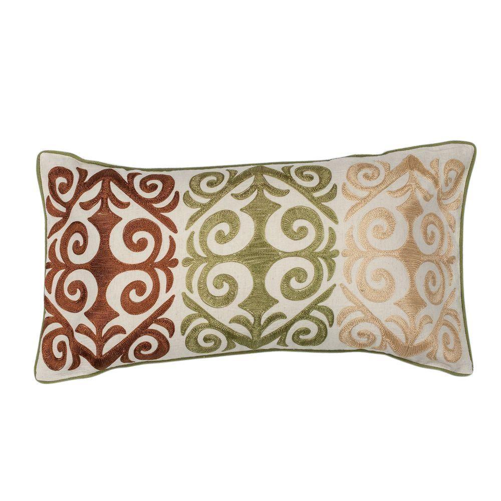 Boutique Ivory/Multicolor Decorative Pillow