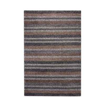 SAMS GOLD IMPORTS Granada Finley Charcoal/Grey/Brown/Ivory 5 ft. x 8 ft. Area Rug