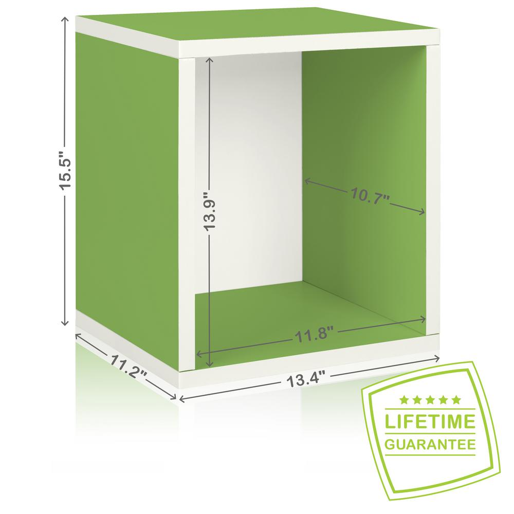 Way Basics Eco Stackable zBoard  11.2 x 13.4 x 12.8 Tool-Free Assembly Tall Storage Cube Unit Organizer in Grain