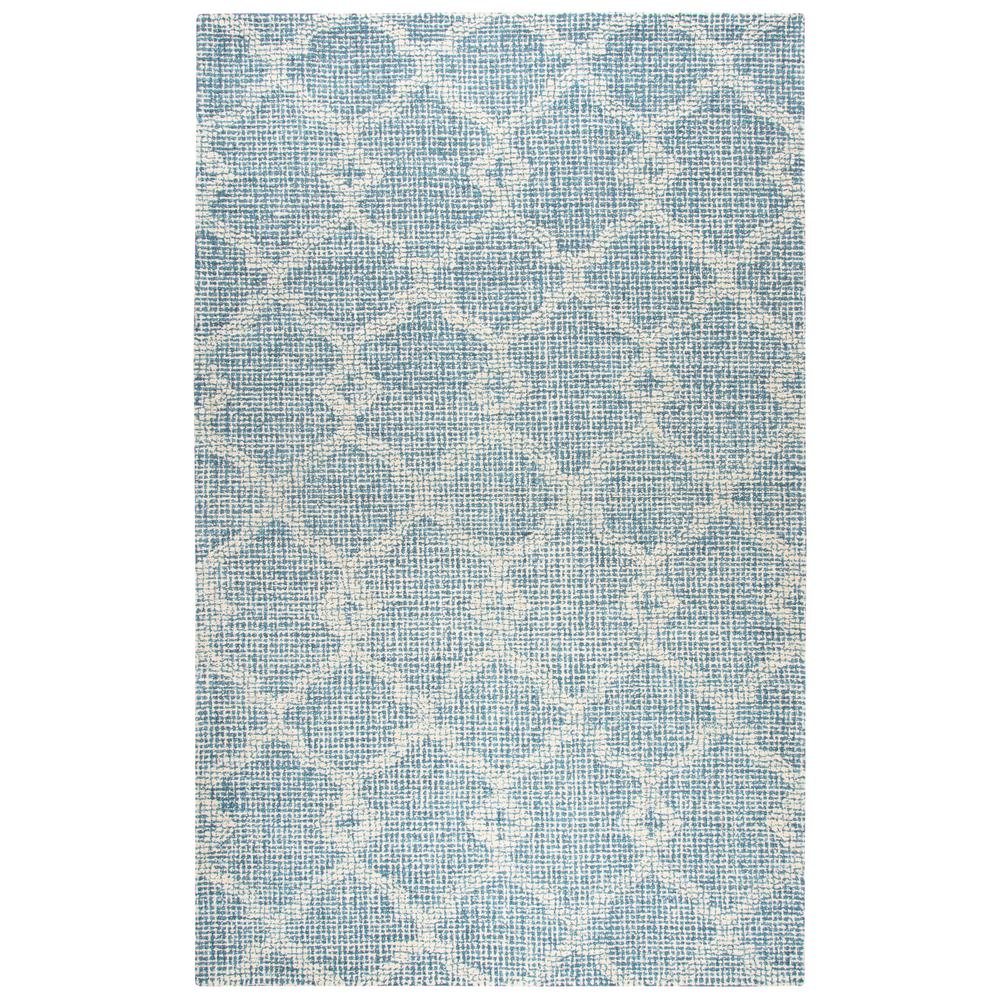 Rizzy home opulent light blue geometric hand tufted wool 9 for Geometric print area rugs