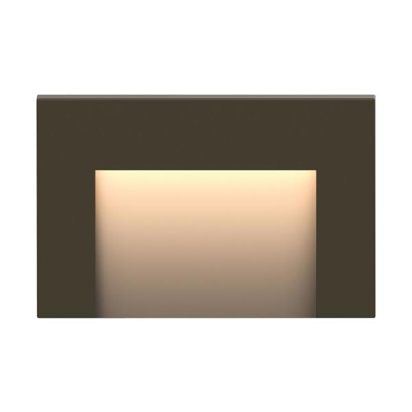 Taper Low-Voltage Bronze Integrated LED Horizontal Stair Light