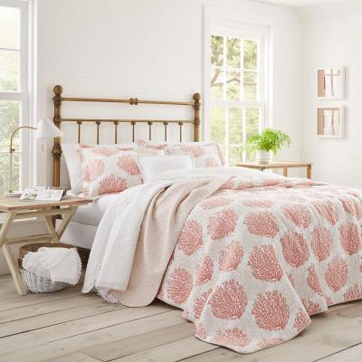 Coral Coast 3-Piece Coral Full/Queen Quilt Set