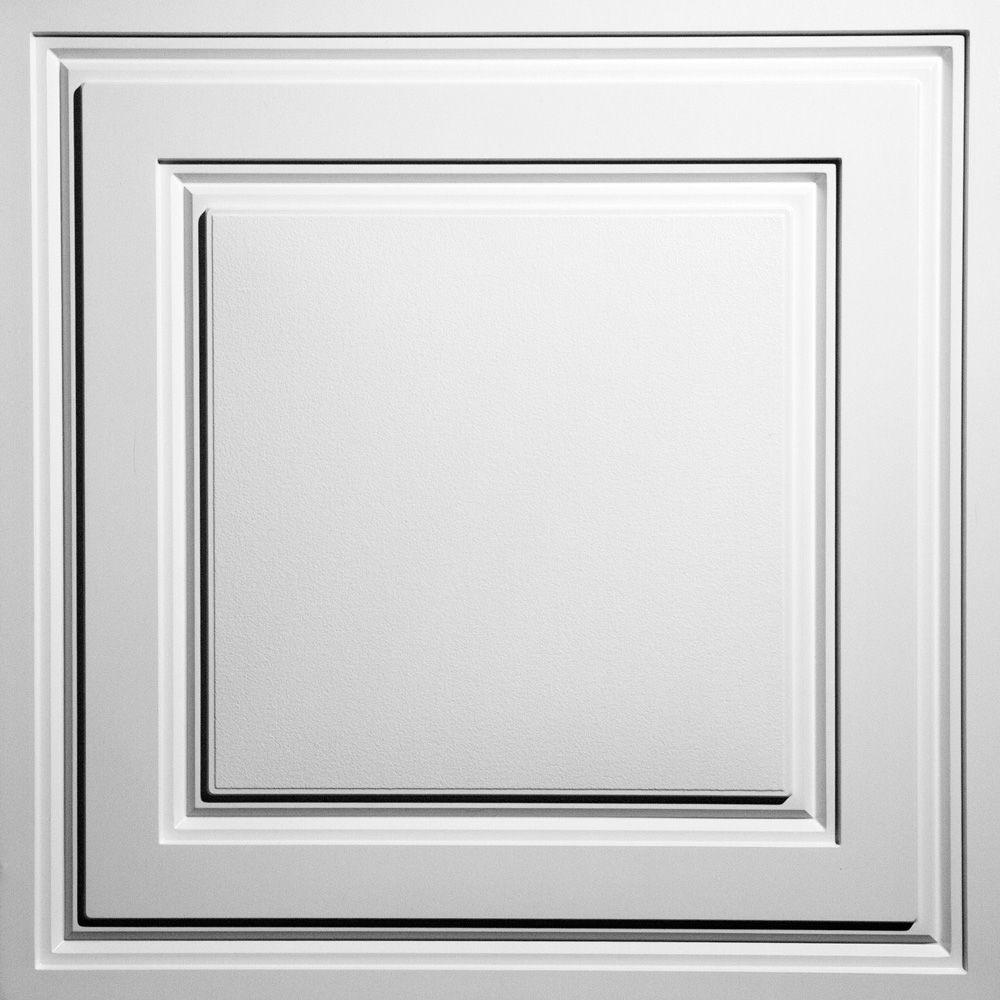 Ceilume Oxford White 2 ft. x 2 ft. Lay-in Ceiling Panel (Case of 6 ...