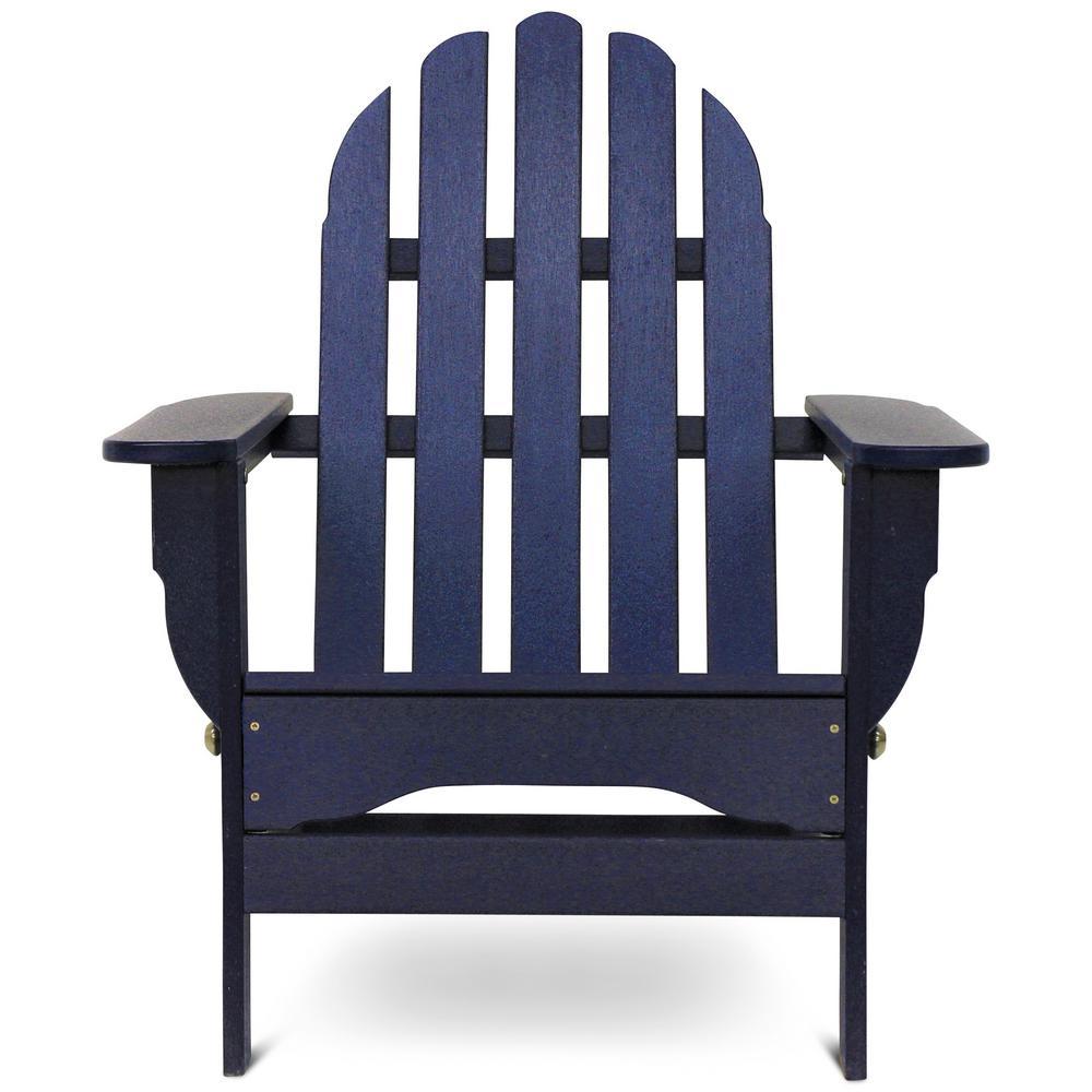 Icon Navy Plastic Folding Adirondack Chair