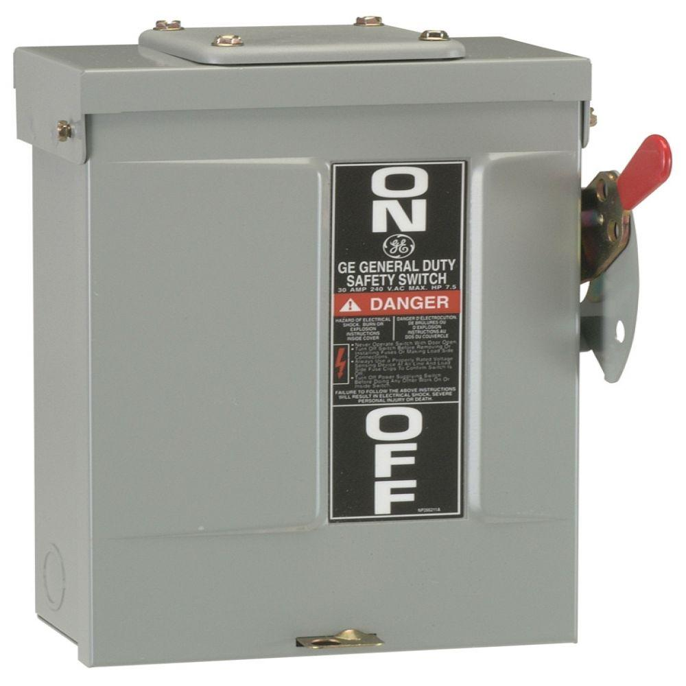 GE 60 Amp 240 Volt Non Fuse Outdoor General Duty Safety