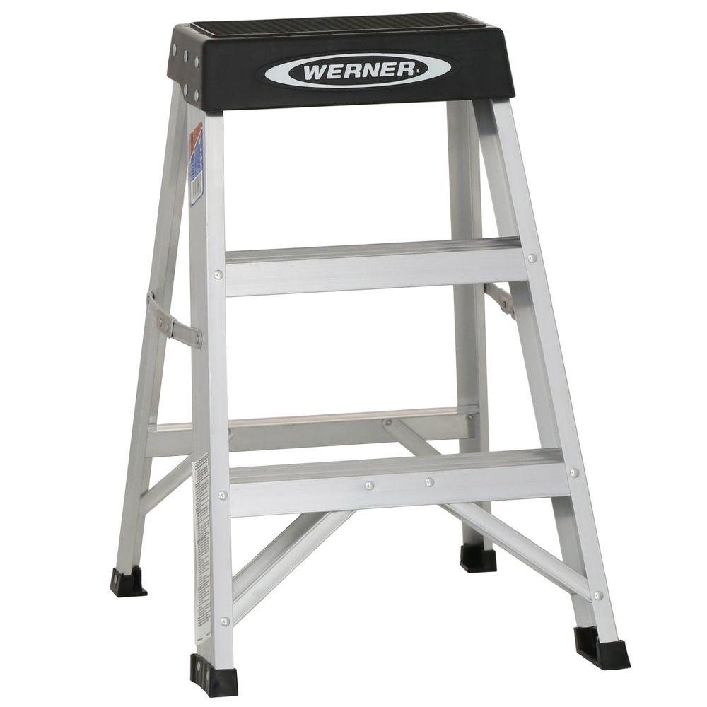 Aluminum Step Ladder with 300 lb. Load Capacity Type IA Duty Rating-150B - The Home Depot  sc 1 st  The Home Depot : aluminum step stools - islam-shia.org