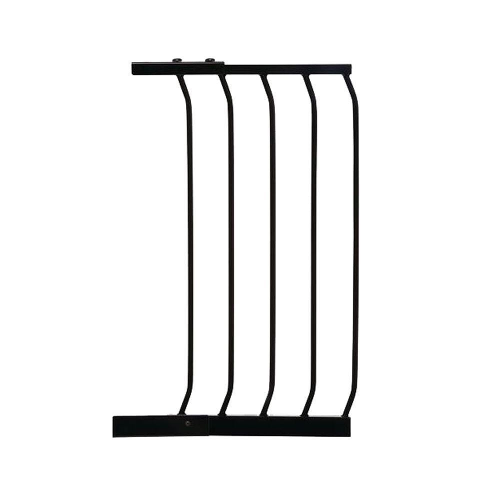 14 in. Gate Extension for Black Chelsea Standard Height Child Safety
