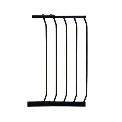 14 in. Gate Extension for Black Chelsea Standard Height Child Safety Gate