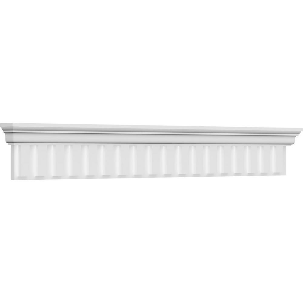 Ekena Millwork 7 8 In X 47 In X 9 3 8 In Polyurethane Dentil Crosshead Moulding Crh09x47de The Home Depot