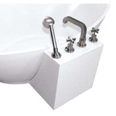 24 in. Faucet Tower in White