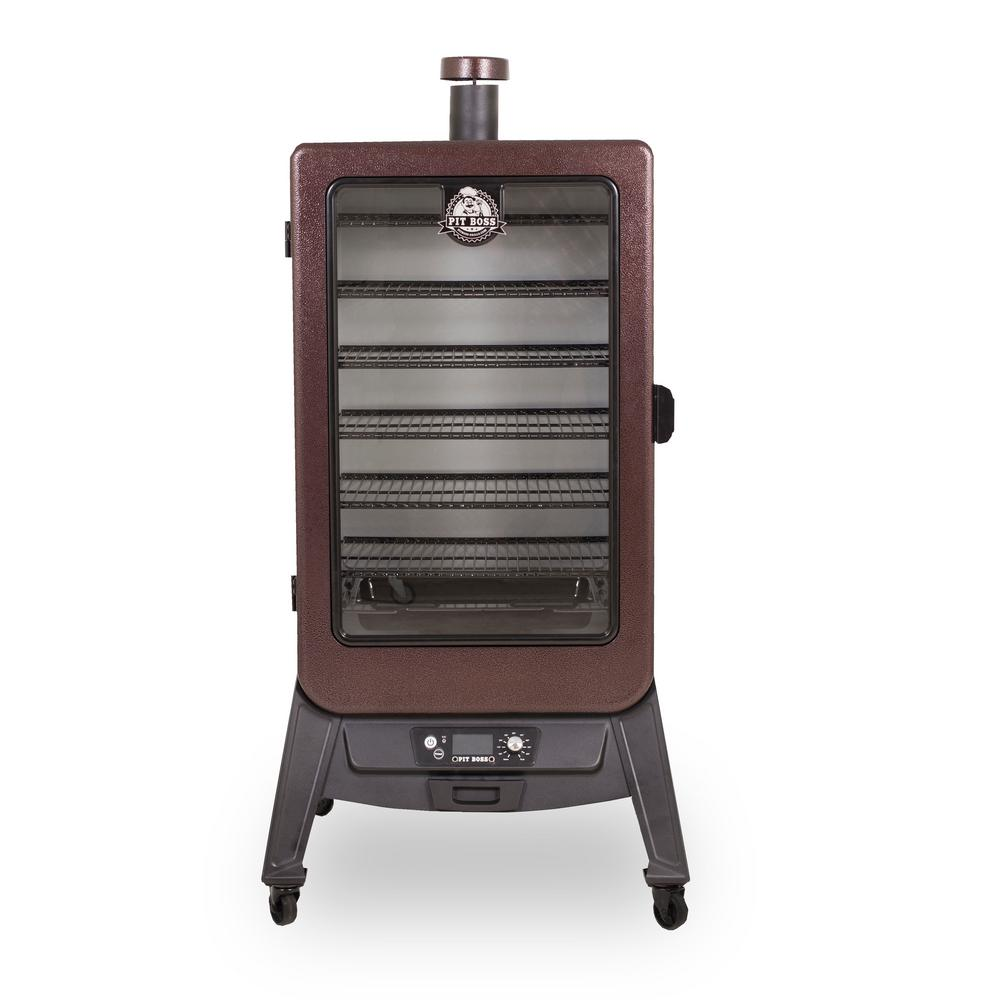 Pit boss 7 0 cu ft vertical pellet smoker with rear for Pit boss pellet grill
