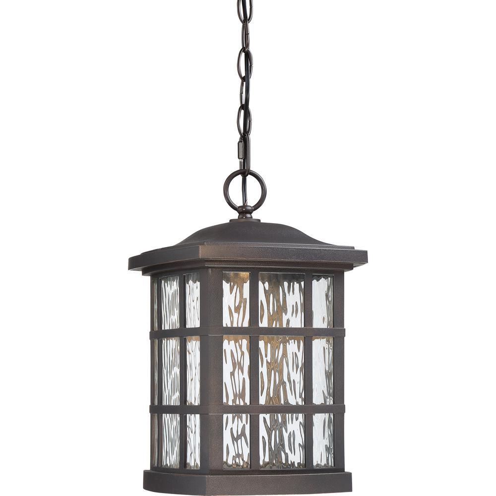 Stonington 1-Light Bronze LED Outdoor Pendant Light