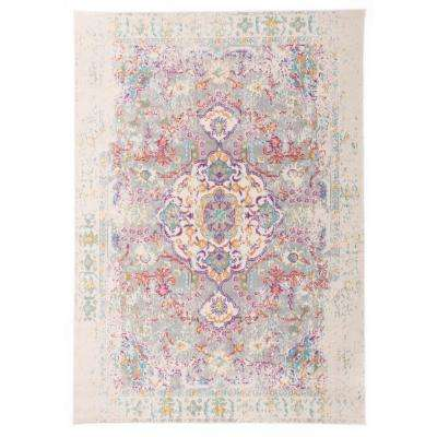 Bohemian Vintage Oriental 5 ft. x 7 ft. Gray Area Rug