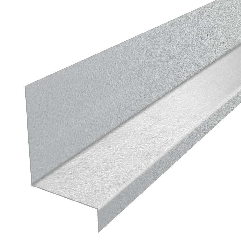 Construction Metals 1-1/4 in  x 1-3/8 x 8 ft  Galvanized Steel Window  Flashing