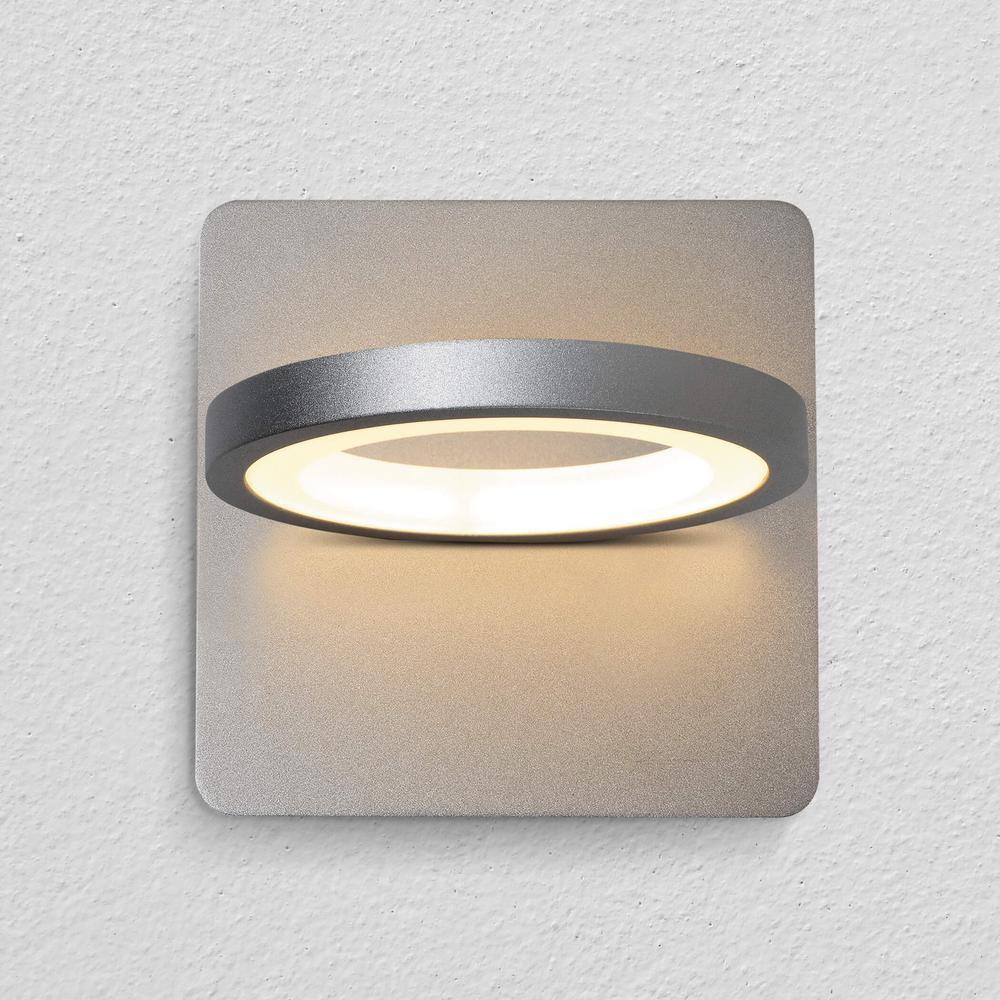 Tania 8-Watt Silver Integrated LED Sconce