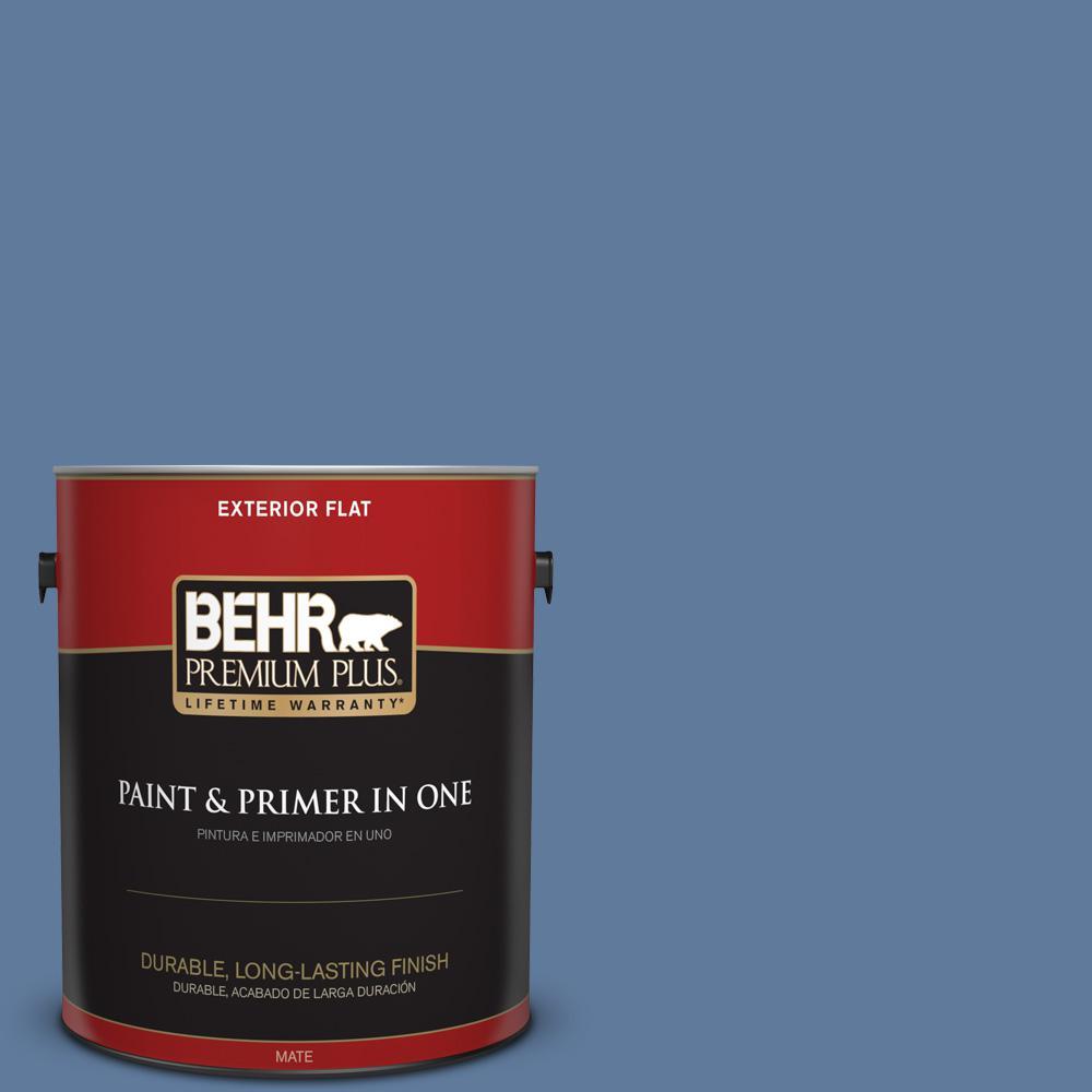 1 gal. #PPU14-02 Glass Sapphire Flat Exterior Paint