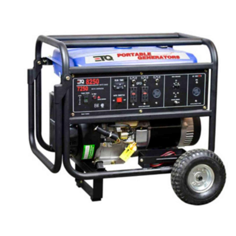 ETQ 8,250-Watt/7250-Watt Gasoline Powered Generator 14 HP CARB Engine-DISCONTINUED