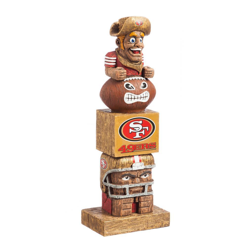 San Francisco 49ers Tiki Totem Garden Statue
