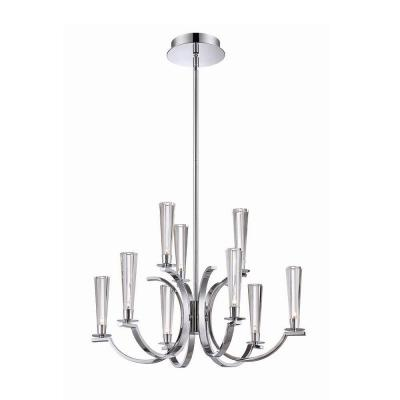 Cromo Collection 9-Light Chrome Chandelier with Clear Glass Shade