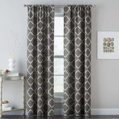 Casbah Trellis 40 in. W x 63 in. L Window Panel in Grey