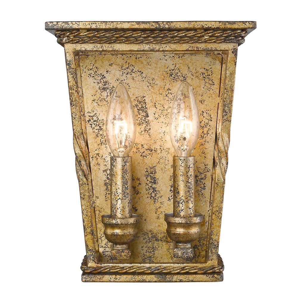 Davenport LG 2-Light Luxe Gold Sconce
