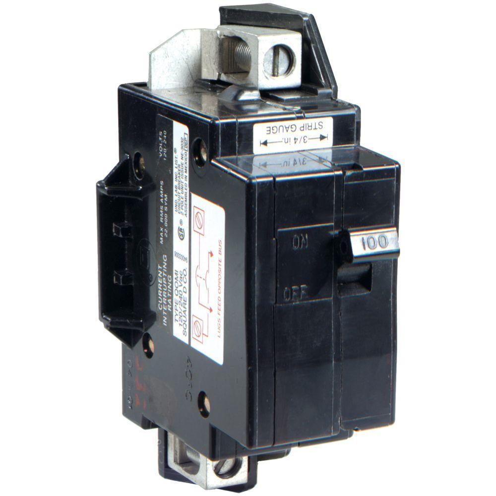 QO 100 Amp 22k AIR QOM1 Frame Size Main Breaker for QO or Homeline 125 Amp or Less Rated Load Centers