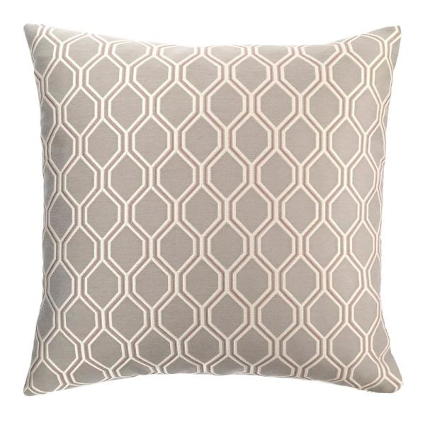 Armen Living Andante Dove Jacquard Feather and Down Standard Throw Pillow
