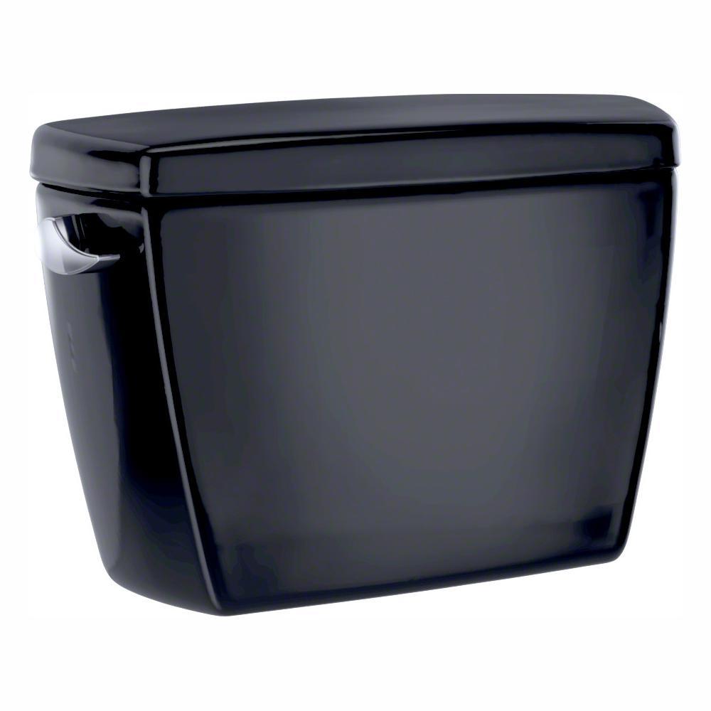 Eco Drake 1.28 GPF Single Flush Toilet Tank Only in Ebony