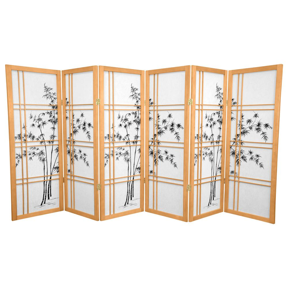 4 ft Natural 6 Panel Room Divider CLDXBT NAT 6P The Home Depot