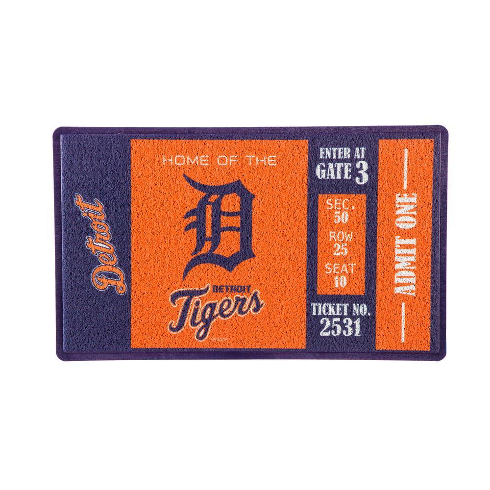 Detroit Tigers 30 in. x 18 in. Vinyl Indoor/Outdoor Turf Floor Mat