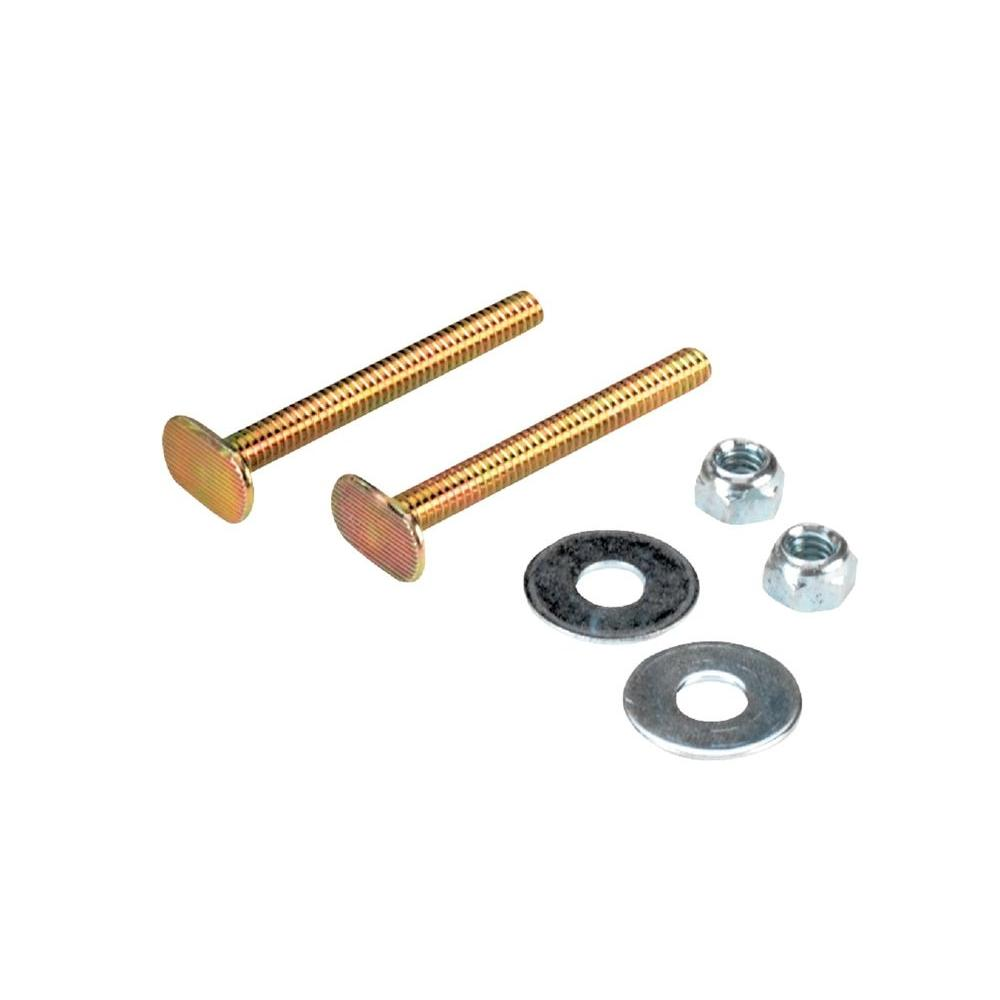 QEP Toilet Bowl Bolt Kit with 1/4 in  x 2-1/4 in  Bolts, Nuts and Washers