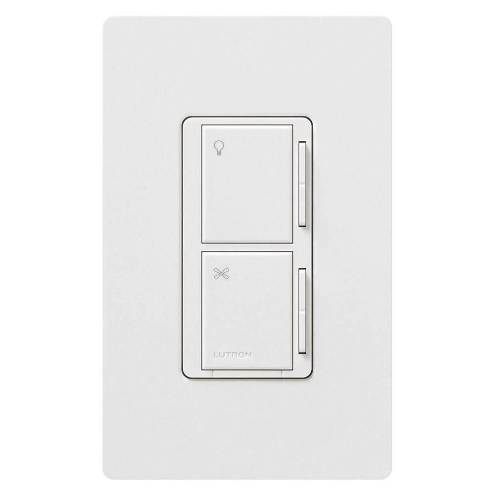 null Maestro 1 Amp Multi-Location 7 Speed Combination Fan and Light Control - White