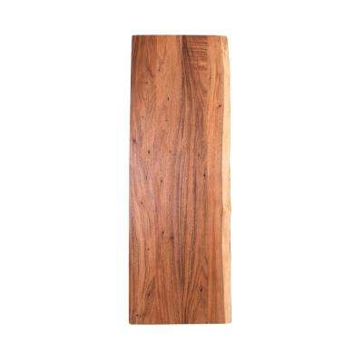 6 ft. L x 2 ft. 1 in. D x 1.5 in T Butcher Block Countertop in Oiled Acacia with Live Edge