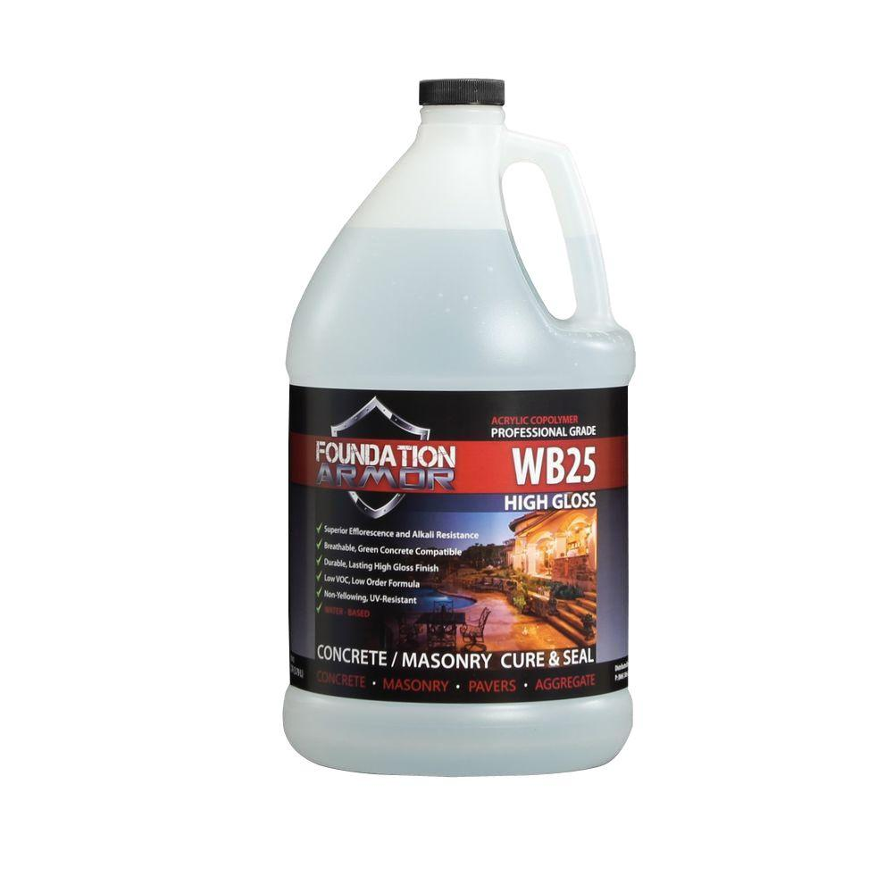 Foundation Armor 1 gal. Water Based High Gloss Acrylic Concrete Cure and Seal