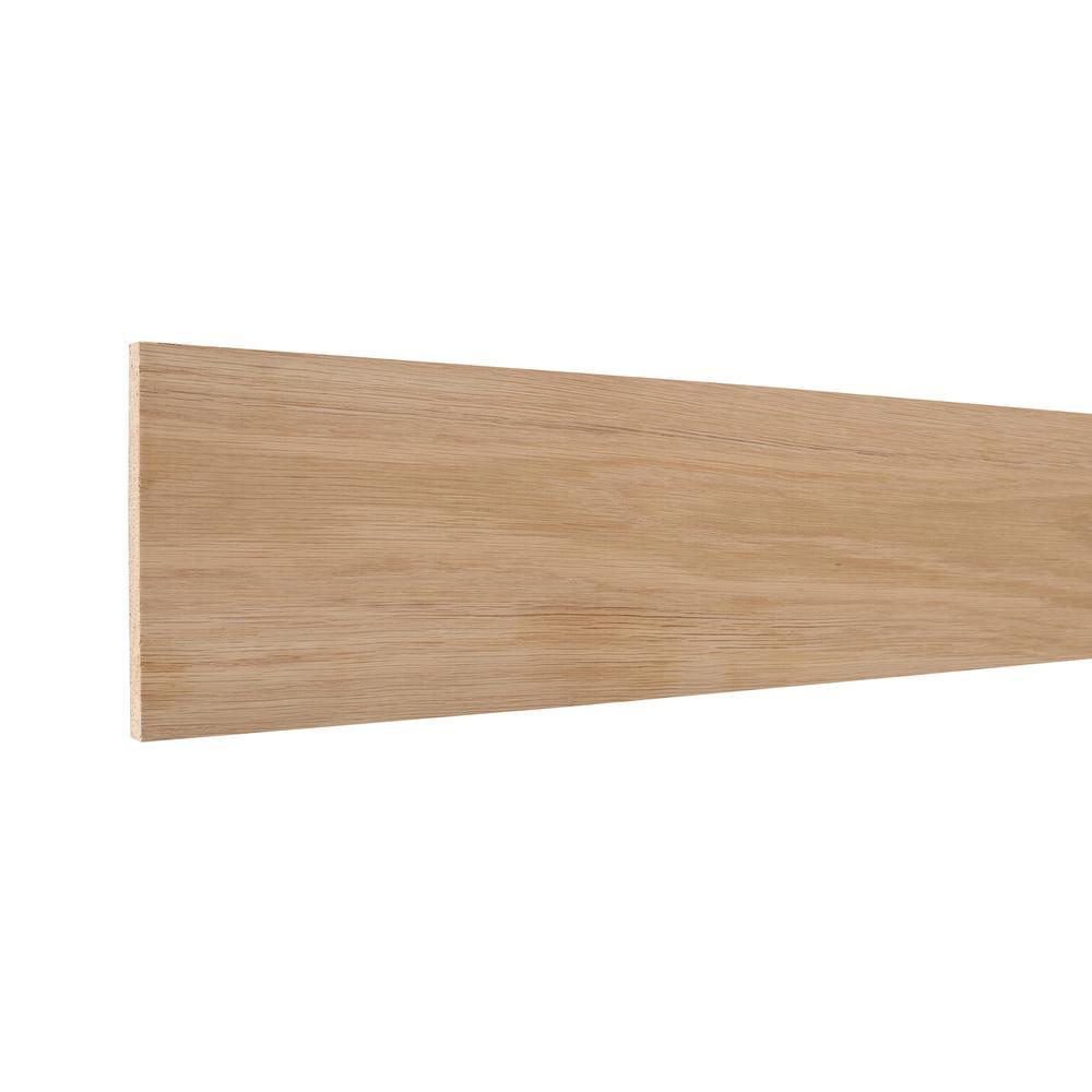 0.438 in. x 5.50 in. x 96 in. White Oak Wood Accent Moulding