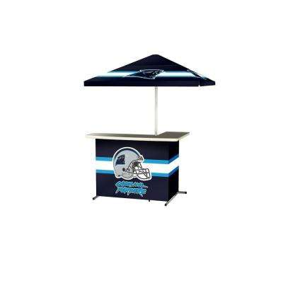 Carolina Panthers All-Weather L-Shaped Patio Bar with 6 ft. Umbrella