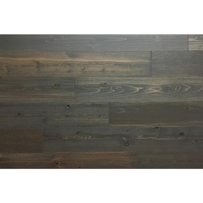 Timberchic Breakwater 4 in. Peel and Stick Wall Applique Panels (20 sq. ft./Box), Dark Gray