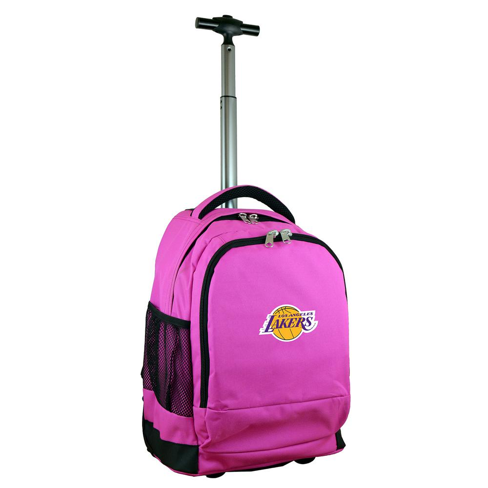 NBA Los Angeles Lakers 19 in. Pink Wheeled Premium Backpack