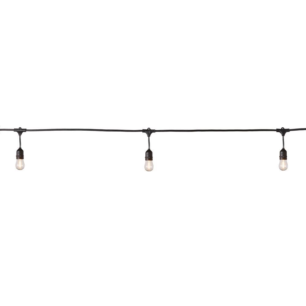 48 ft. 24-Socket Filament LED String Light Set