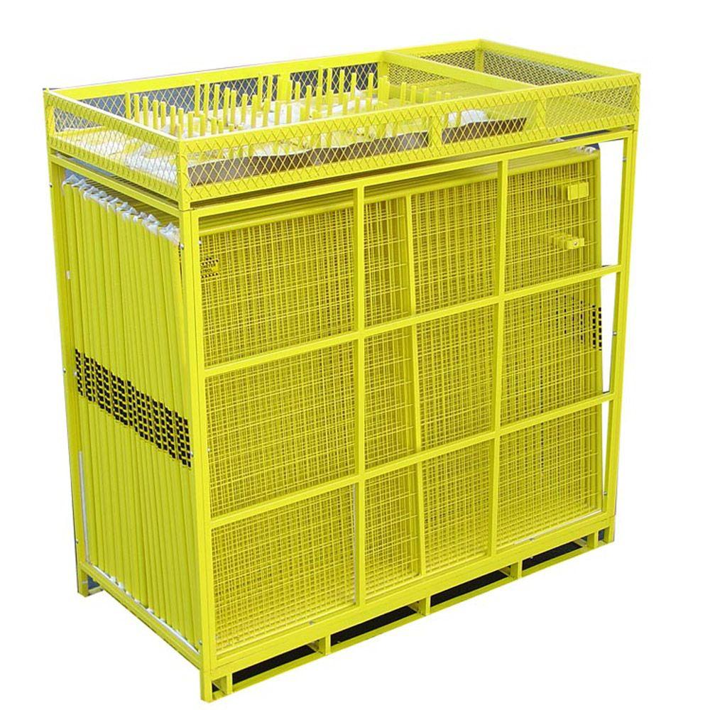 6 ft. x 210 ft. 28-Panel Yellow Powder-Coated Welded Wire Temporary