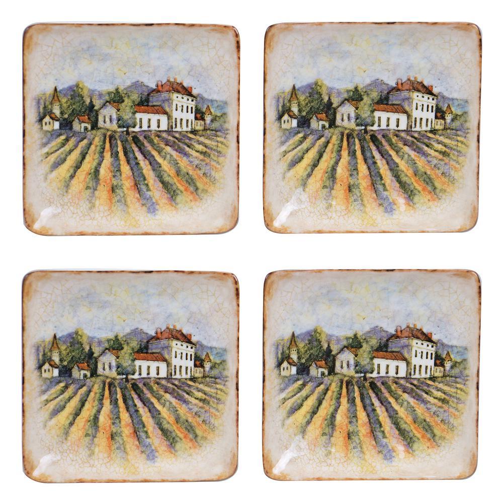 Sanctuary Wine Canape Plate (Set of 4)