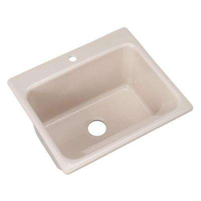 Kensington Drop-In Acrylic 25 in. 1-Hole Single Bowl Utility Sink in Fawn Beige