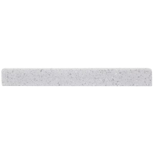 17.75 in. W Solid Surface Sidesplash in Polar Gray