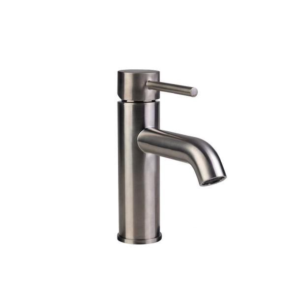 Contemporary Single Hole Single-Handle High-Arc Bathroom Faucet in Brushed Nickel