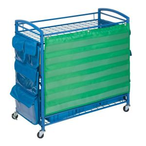 Honey-Can-Do 3-Tier Steel Wheeled All Purpose Teaching Cart in Blue by Honey-Can-Do
