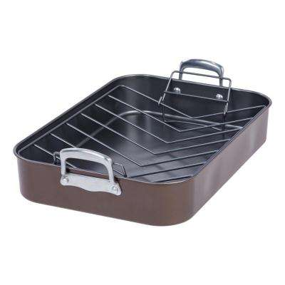 17 in. Heavy Duty Nonstick Roaster and Rack