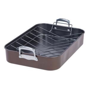 Click here to buy MAKER Homeware 17 inch Heavy Duty Nonstick Roaster and Rack by MAKER Homeware.