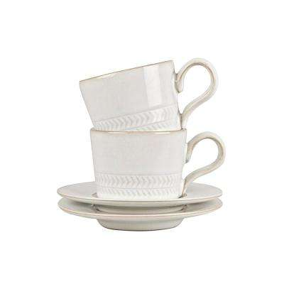Natural Canvas Stoneware Espresso Cup (Set of 4)