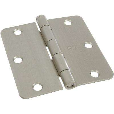 3-1/2 in. Satin Nickel Door Hinge